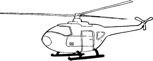 helicopter in black and white