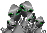 space alien family