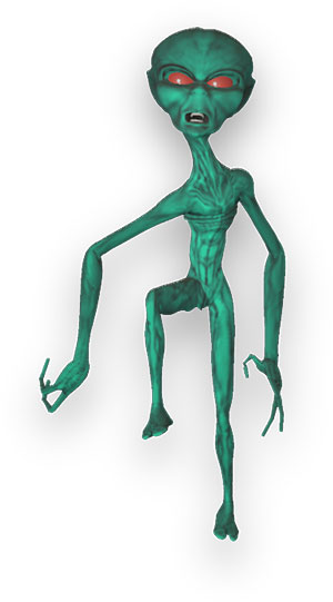 alien with warped body