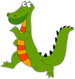 cartoon alligator