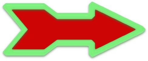 Christmas Arrow.Free Arrow Clipart