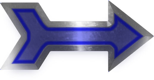 steel with neon blue arrow