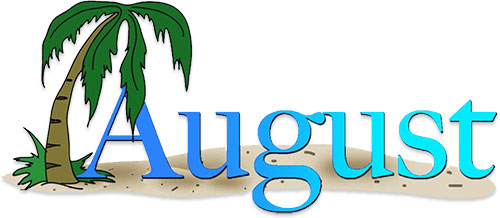 Free August Animations Clipart Happy August
