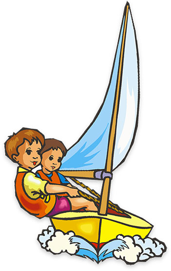 children sailing