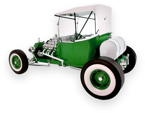 1920 Ford T-Bucket green