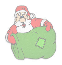 Santa and his toy sack