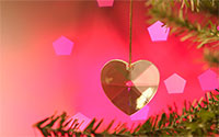 Christmas tree ornaments background