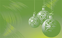 Christmas ornaments green