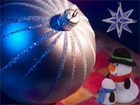 Christmas ornaments background image