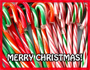Merry Christmas candy canes