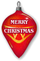 Merry Christmas red ornament