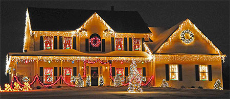 Christmas house image