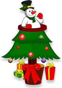 Animated christmas trees christmas tree clip art christmas tree with snowman voltagebd Gallery