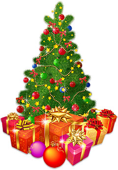 christmas tree with lots of presents - Animated Christmas Ornaments