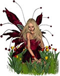 fairy with wings and flowers