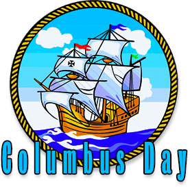Columbus Day and ship