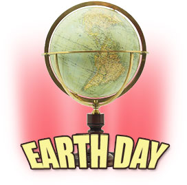 Earth Day with a globe