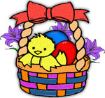 Easter basket with chick