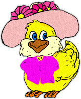 Easter chick in her best
