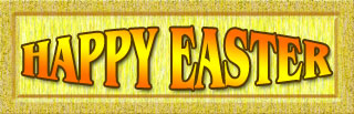 Happy Easter sign gold - jpg