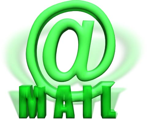 at mail in green 3d