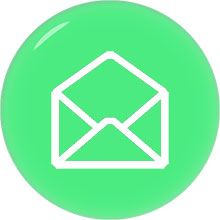 envelope email image white on green