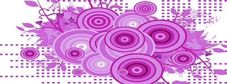 purple abstract flower design