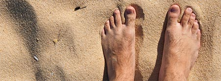 your feet in the sand