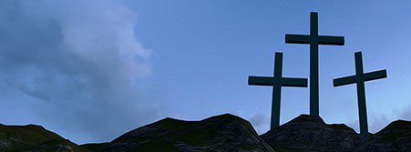three crosses on the mount