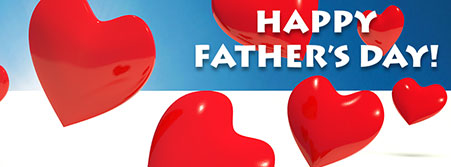 Happy Father's Day with hearts
