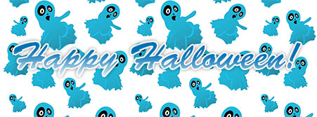 ghosts happy halloween