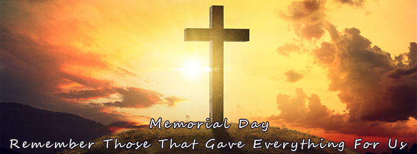 Memorial day cross. Free facebook covers clipart