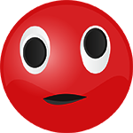 red smiley confused