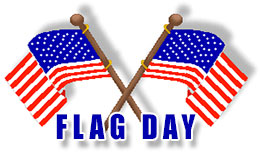 Flag Day with crossed American flags