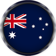 Australia flag button
