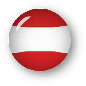 Austrian Flag clipart with perspective shadow