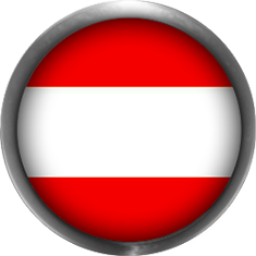 Austria Flag button with metal trim