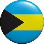 The Bahamas flag button round