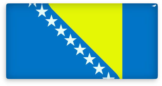 rectangular bosnia and herzegovina flag clipart