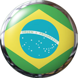 round Brazil button with metal trim