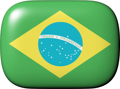 Brazil flag clipart with rounded corners