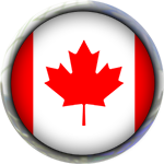 Canadian Flag round button