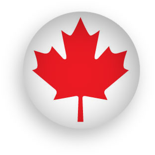 Canadian Maple Leaf button round