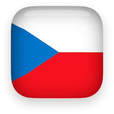 Czech Republic flag clipart