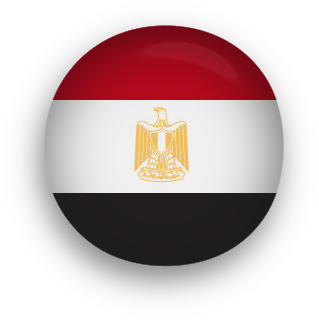 Egypt Flag button round