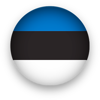 Estonia Flag button round