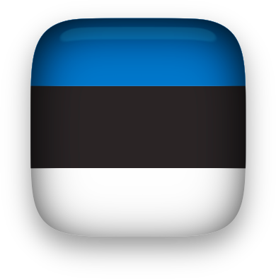 Estonia Flag button square