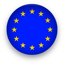 European Union round button