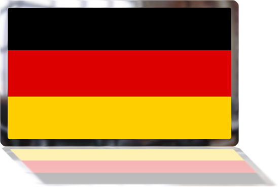 German Flag with reflection