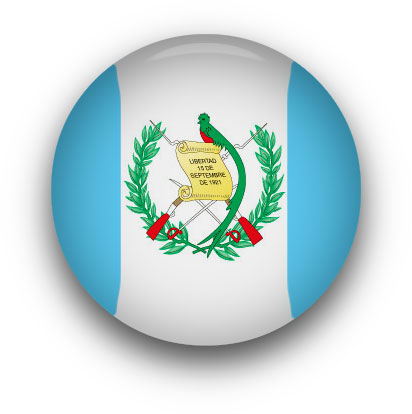 Guatemala Flag button round